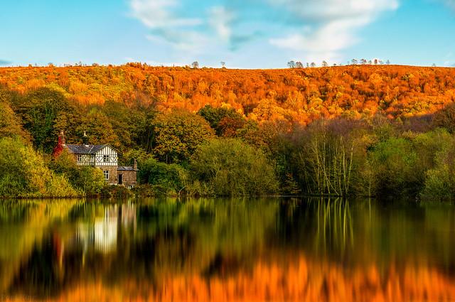 An Autumn Sunset on the Rivington reservoir.  #longexposeroftheday #longexposure_world #longexposure_photos #longexposureshots #longexposurephotography #longexposureoftheday #longexposureworld #reflectionstories #reflections #reflections_pix #reflections_
