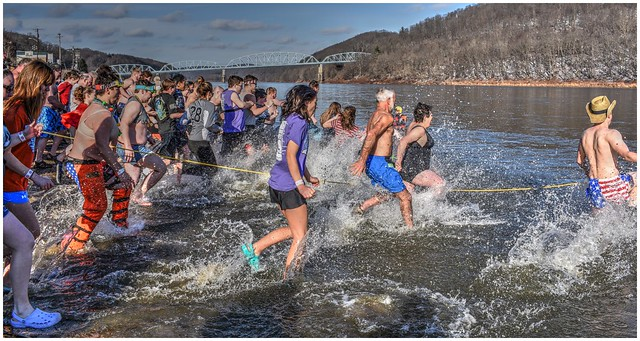 2020 New Year's Day, Parker Polar Plunge @ the Allegheny River, Parker PA