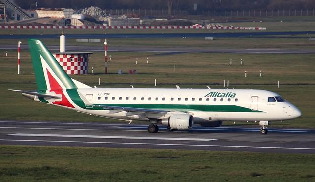 Alitalia CityLiner, EI-RDF, MSN 170000337, Embraer ERJ170-200LR, 27.12.2019,  DUS-EDDL, Düsseldorf (Named: Parco Naturale Dolomiti Friulane)