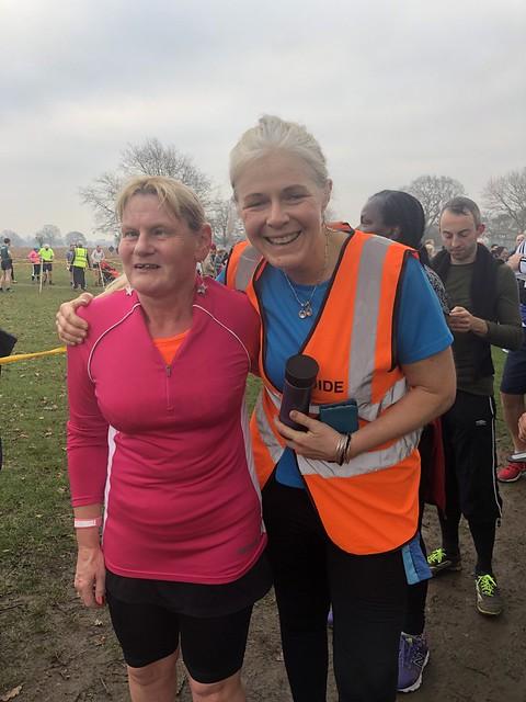 Regular VI runner Jo, guided by Juliette