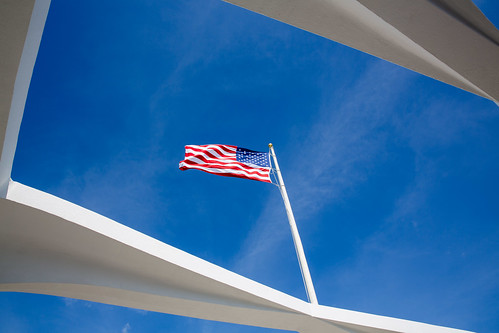 American Flag at Pearl Harbor Memorial