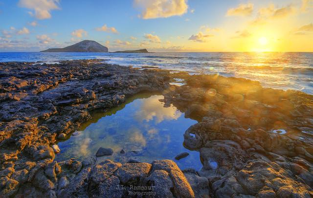 Hawaii Sunrise - Makapu'u Beach & Tide Pools - Oahu, Hawaii