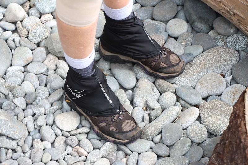 Vicki wore her waterproof SealSkinz socks under her wet boots so she still had happy feet