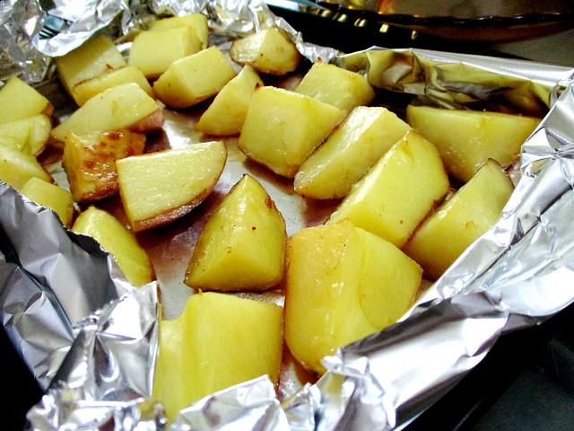 New Year dinner potatoes