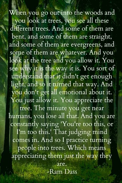 quote about people being trees