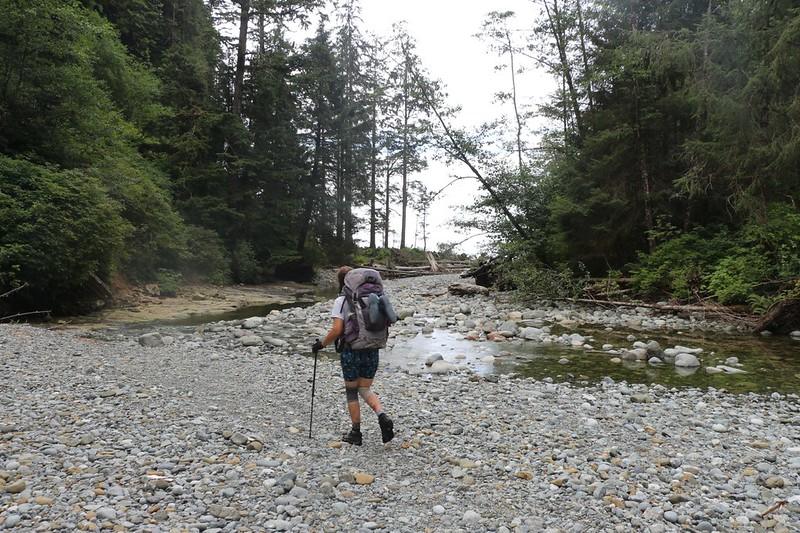 We headed down Cullite Creek to check out the campsite, have some lunch, and wash off Vicki's boots