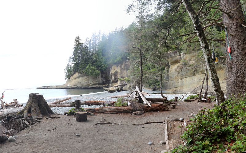 The Cullite Creek Campsite on the West Coast Trail - small but very pretty, situated in its own little cove