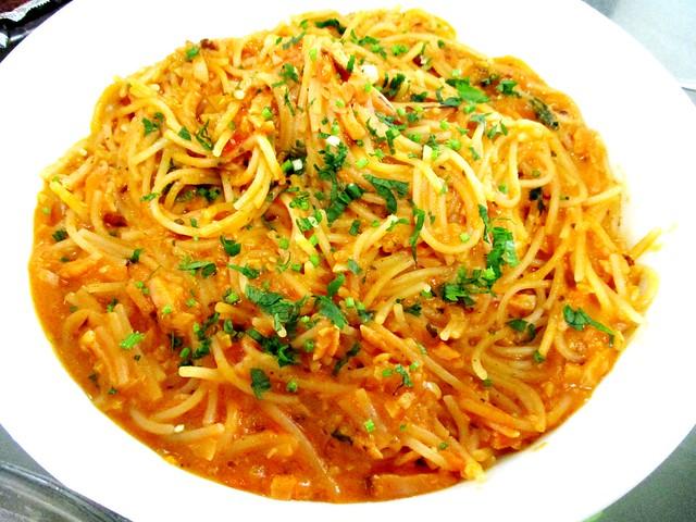 New Year dinner pasta