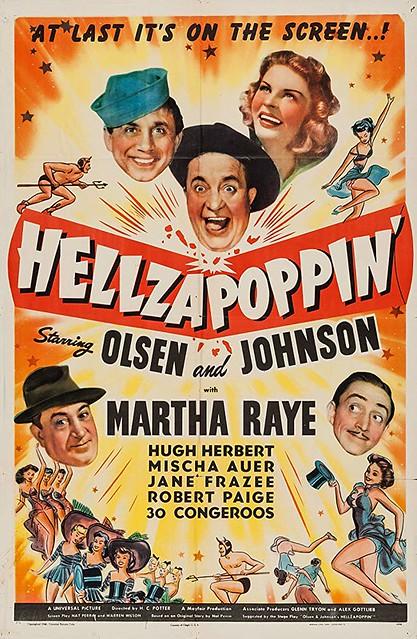 hellzapoppin-vintage movie poster