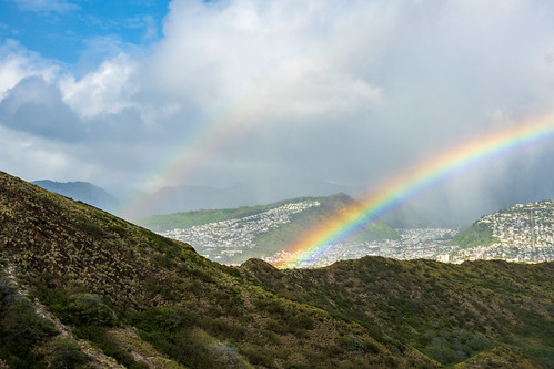 Double Rainbow at Diamond Head Crater