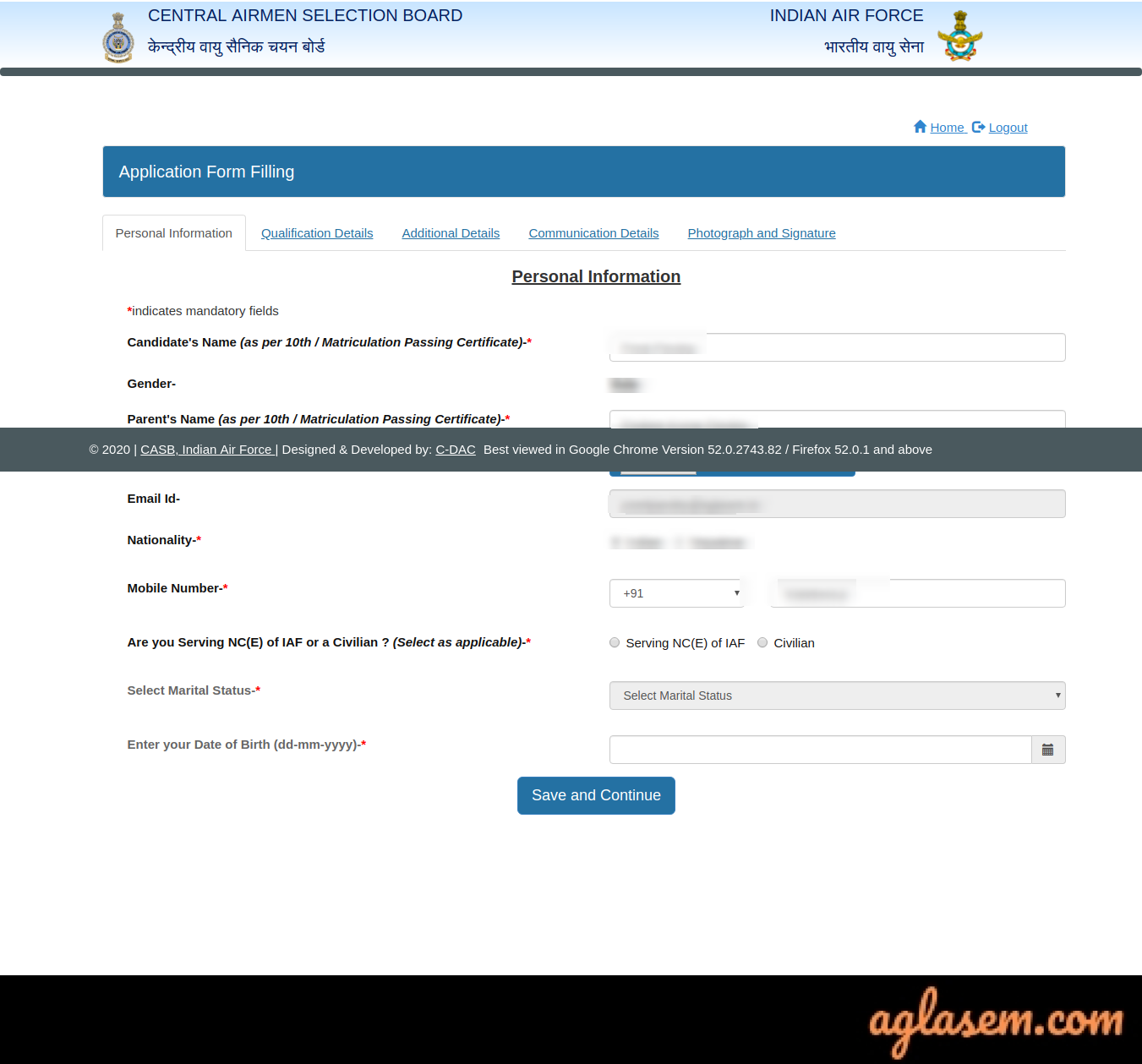 Indian Air Force Airmen Application Form 2020 for 02/2021 – Apply @airmenselection.cdac.in