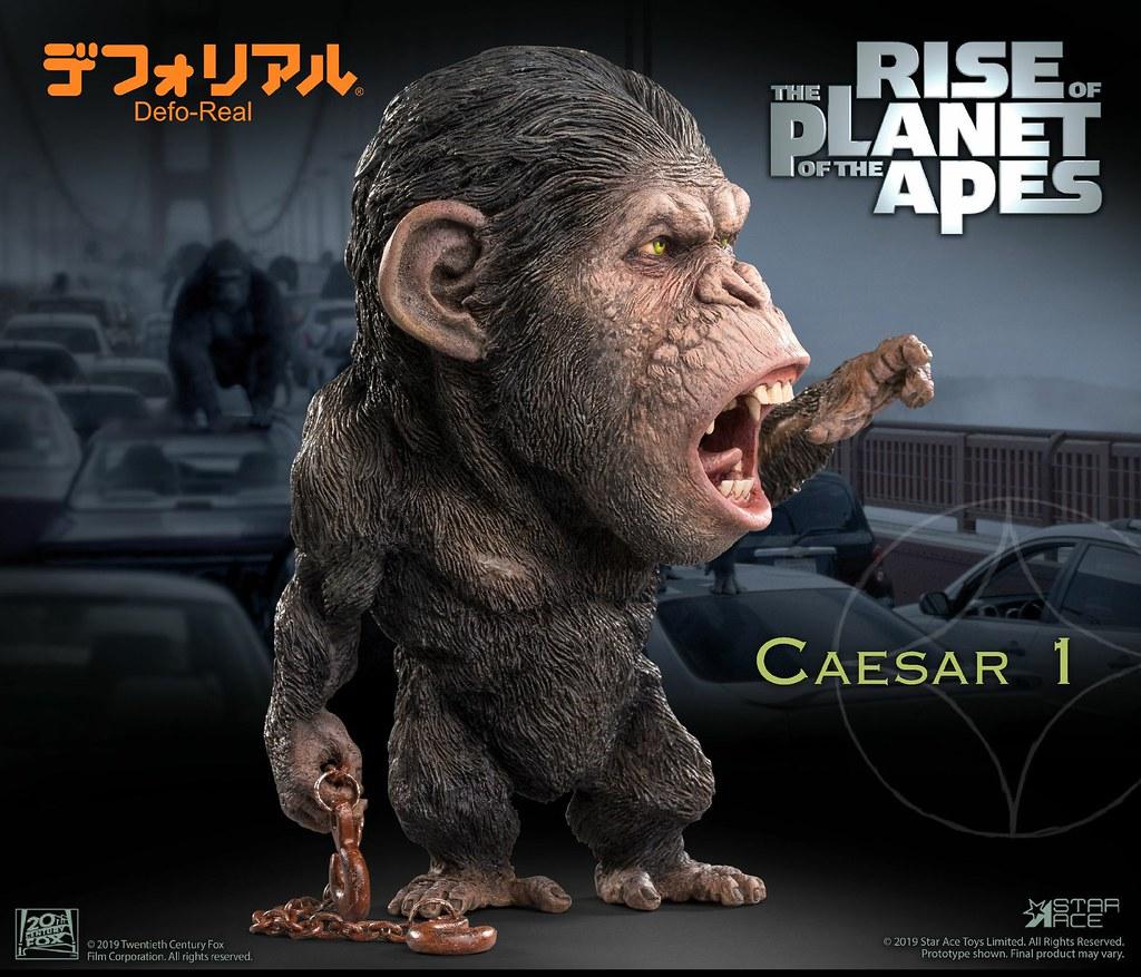 猩猩 團結 力量大! Star Ace Toys Defo-Real 系列《猩球崛起》凱薩 鐵鍊版、槍矛版 Caesar Chain ver.、Spear ver. 一般版/豪華版