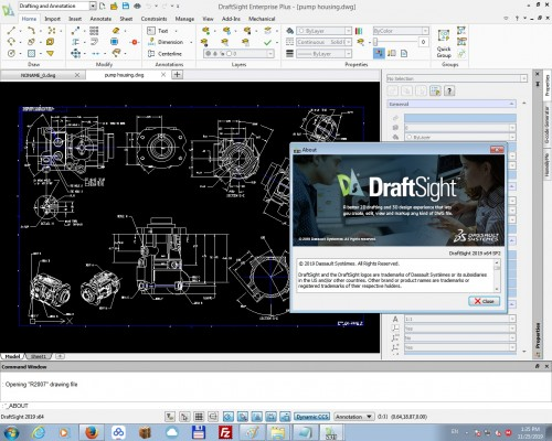 Working with DS DraftSight Enterprise Plus 2019 SP3 full license
