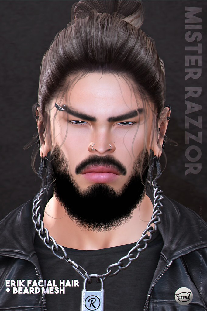 ((Mister Razzor)) Erik Facial Hair and Beard Mesh