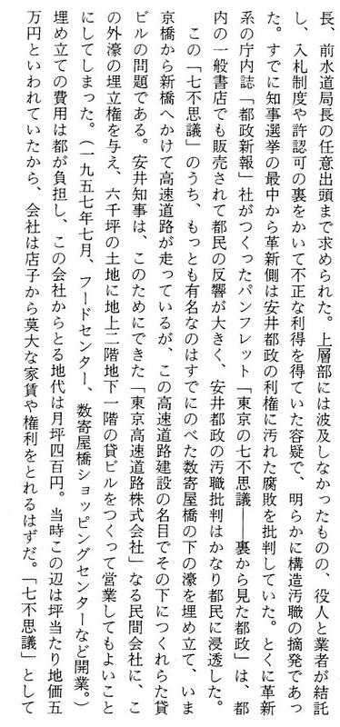 安井都政の七不思議と東京高速道路 (2)