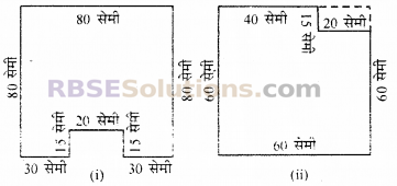 RBSE Solutions for Class 6 Maths Chapter 14 परिमाप एवं क्षेत्रफल Ex 14.3 2