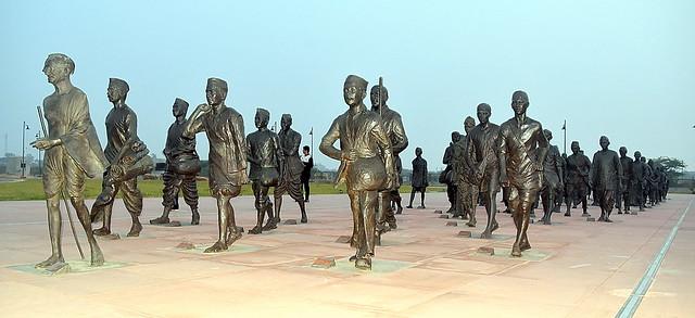 81 Satyagrahis Sculptures, Dandi, Navasari, India.