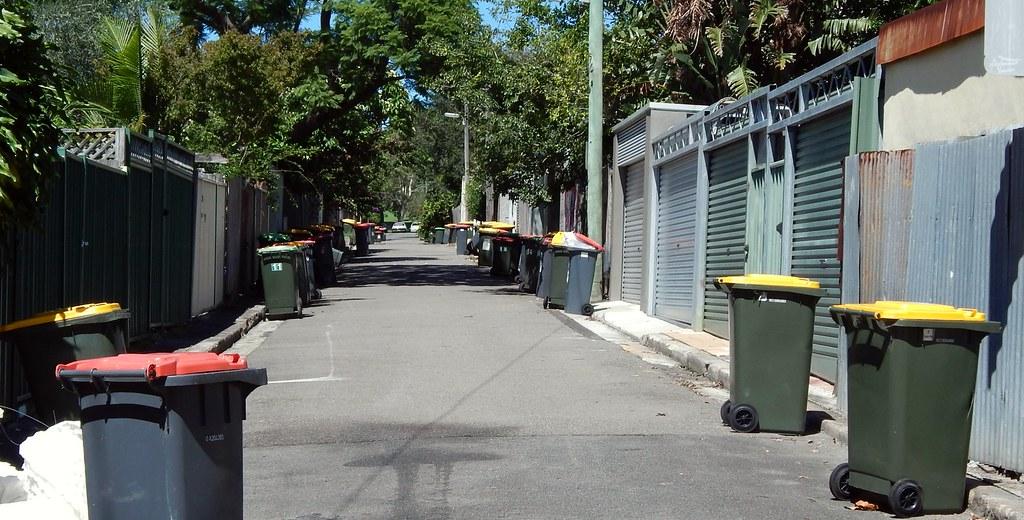 Wheelie Bin Land, Camperdown, Sydney, NSW.