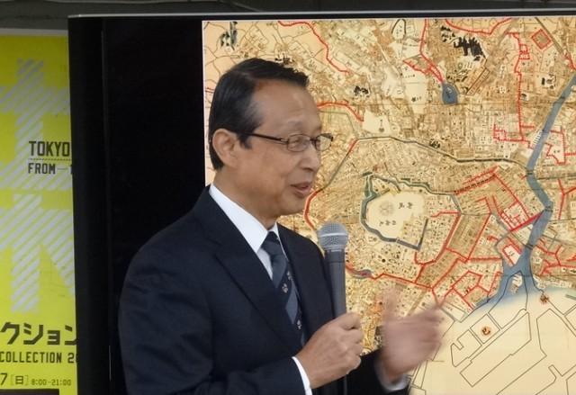 土木コレクション2019内のイベント「どぼくカフェ」において、土屋 信行氏(リバーフロント研究所 技術参与)が「首都高速道路はなぜ日本橋の上空に架橋されたか」という題目で講演を行った