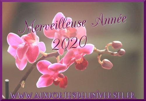 La Boutique ésotérique Aux Portes de l'Universel vous souhaite une belle année 2020