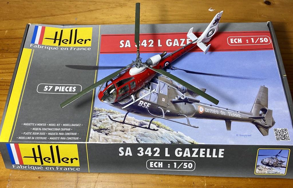 Heller 1:50 Westland Aerospatiale Gazelle HT2 in Royal Navy ...