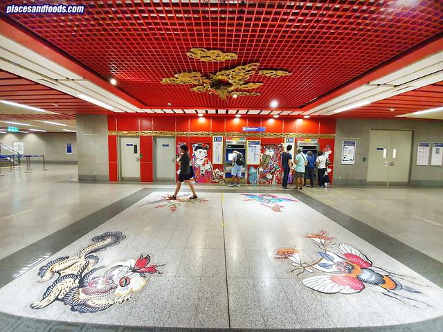 bangkok chinatown wat mangkon station wide angle
