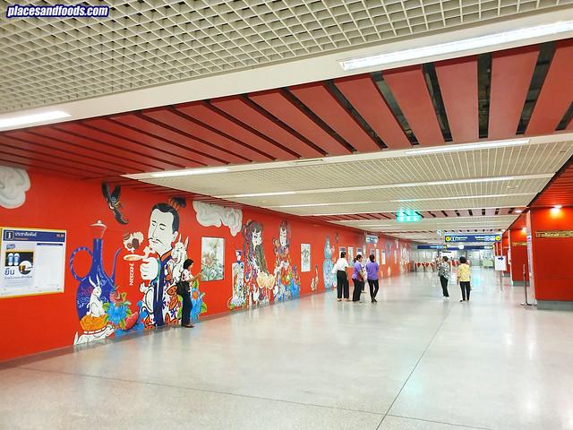 bangkok chinatown wat mangkon MRt design