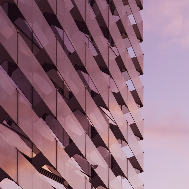 architectural sunset