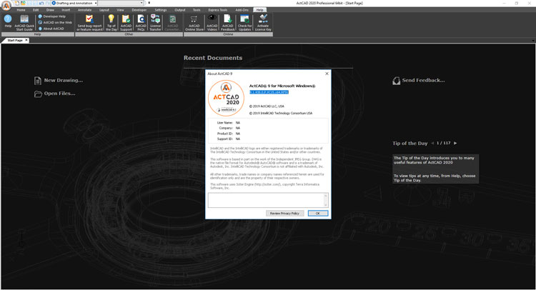 Working with ActCAD Professional 2020 v9.2.270 x64 full crack
