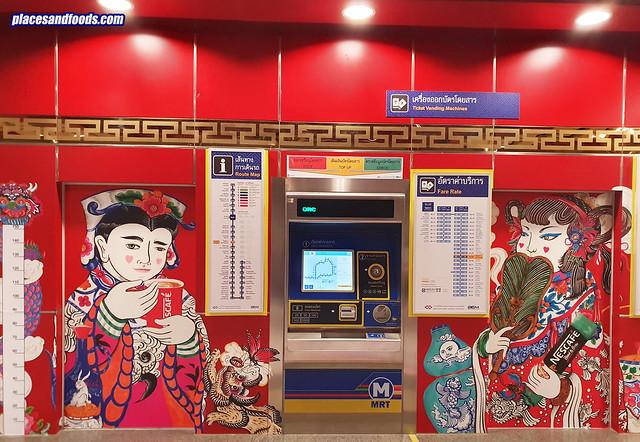 bangkok chinatown wat mangkon station payment