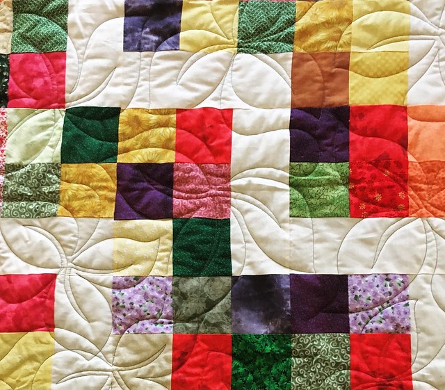 Sister's charm quilt