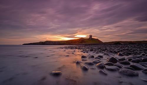 sea sun castle beach sunrise rocks