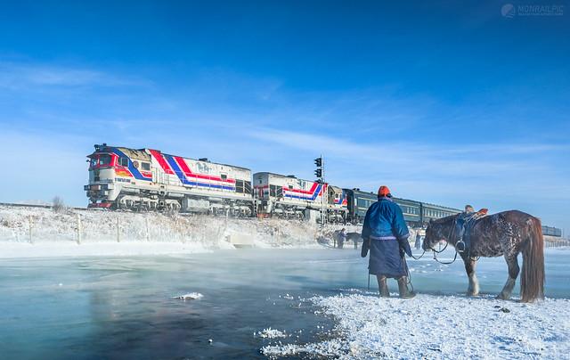 Typical Mongolian winter