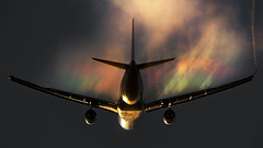 HiFly Airbus A330-202  creating her own cloud. after departure