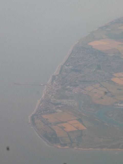 Aerial view of Walton on the Naze