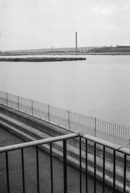 River Thames, North Woolwich, 1981