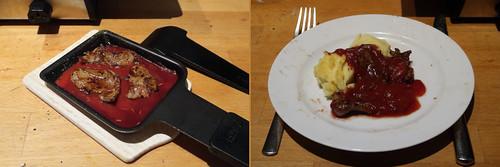 Raclette 5: Lamm in Tomatensoße