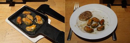 Raclette 4: Muscheln in Weißwein
