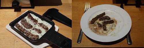 Raclette 3: Rindfleisch mit Gorgonzola