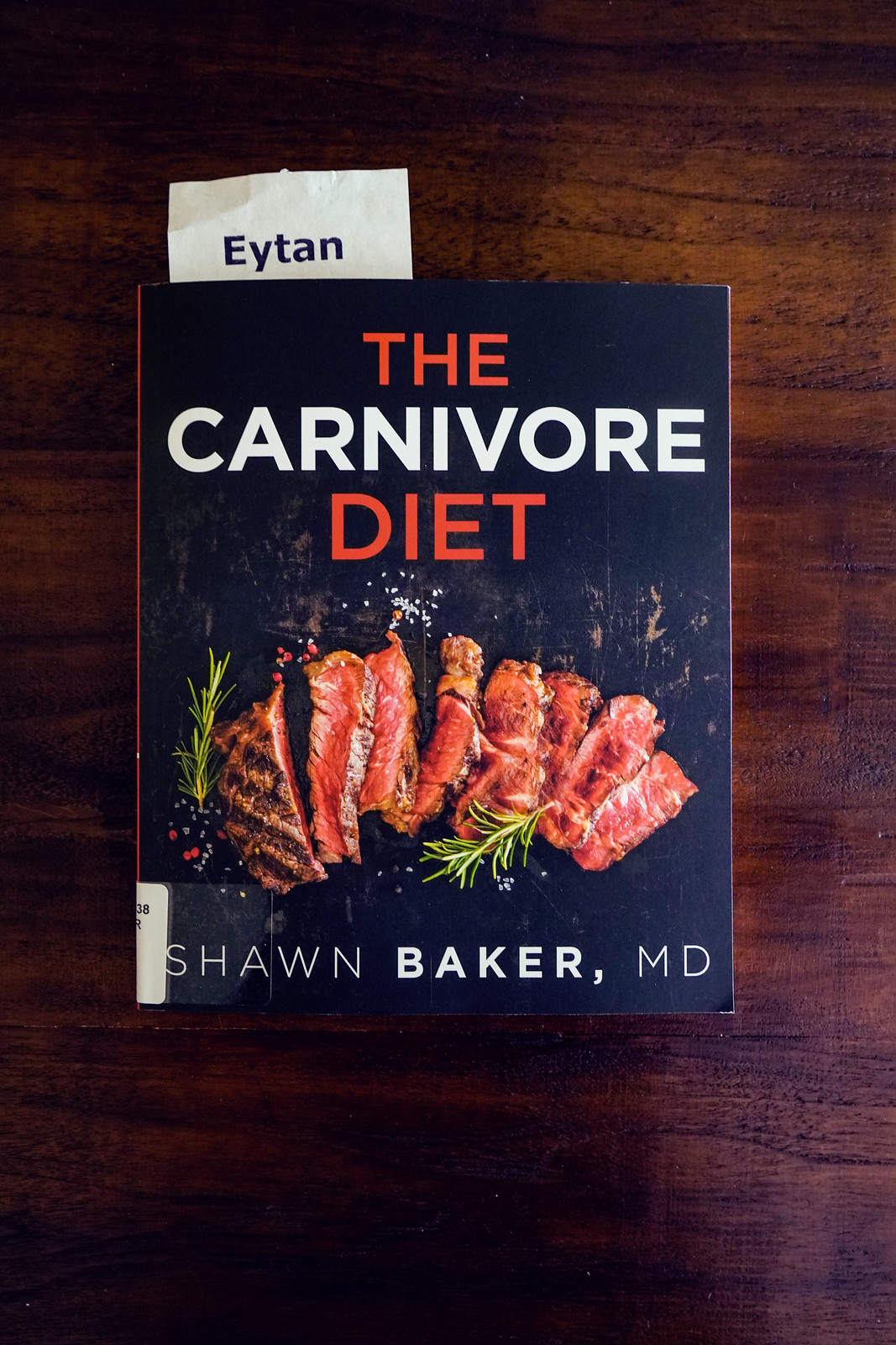 2020.01.02 The Carnivore Diet Book, Shawn Baker, MD, Washington, DC USA 002 10015
