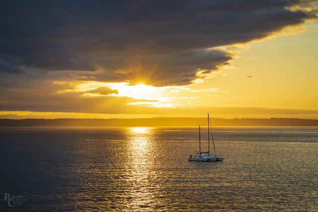 Sunrise on Port Townsend Bay