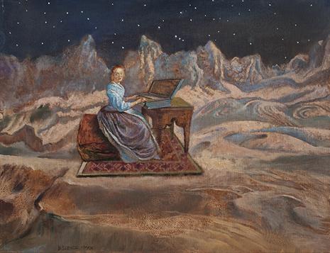 Szenczi. Johann Sebastian Bach. 65x50cm óleo tela Uti 465