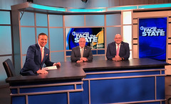 Deputy House Republican Leader Vincent Candelora, center, was a guest on Face the State with host Dennis House and state Rep. Pat Boyd in January 2020.