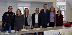 State Rep. Vincent Candelora, fourth from left, participated in the 2nd Annual Legislative Roundtable on Domestic Violence and Sexual Assault hosted by the Women & Family Life Center.