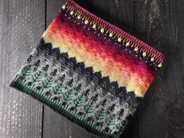 Tregrensa Cowl knitting pattern by Suzie Blackman