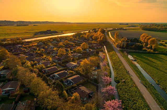 Westfriese Omringdijk near Warmenhuizen.