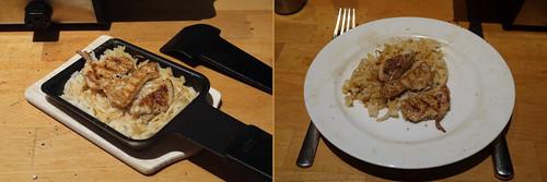Raclette 6: Hähnchen mit Mungbohnen