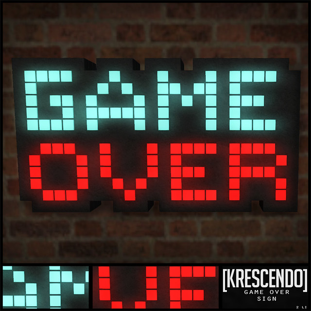 [Kres] Game Over Sign