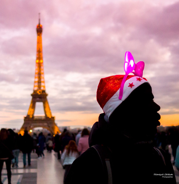 Street - Eiffel towers street hawker