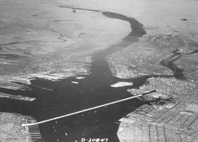 New York Harbor in 1962